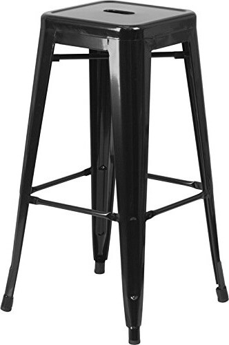 10 Best backless Stool Chairs Review 2016  30 inches High Backless Black Metal Indoor-Outdoor Barstool with Square Seat