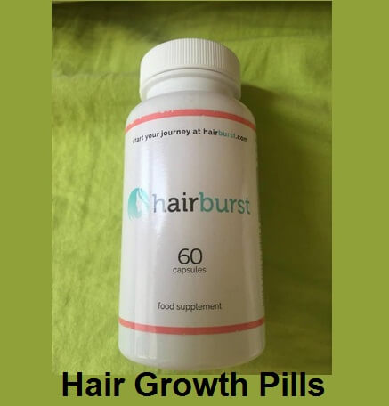 HairBurst hair growth pills Natural Hair Vitamins bottle