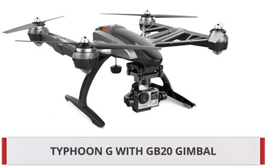 YUNEEC Q500 4K Typhoon Quadcopter Best Photographer Drone 2016 2017 go pro attached