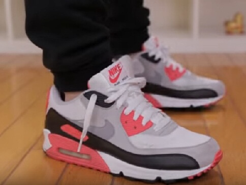 Nike air max 90 infrared Shoes with jogger pants 2017 2018 2019