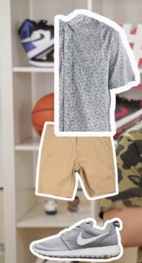 best shorts shoes t shirt outfit combination style 2017 2018 2019 nike roshe runs shoes