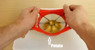 Easy way to make potato wedges When you are home alone.