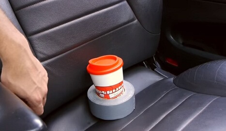 Simple Car Cup Holder Hack