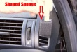 car air vent cleaning with a shaped sponge