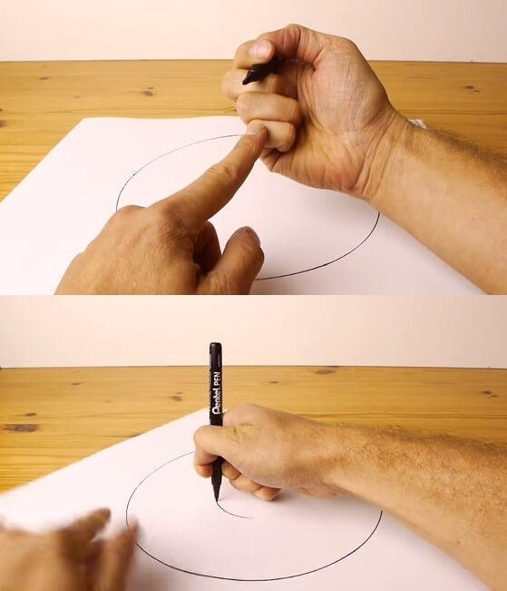 How to draw a medium Circle using only hands 2017 2018