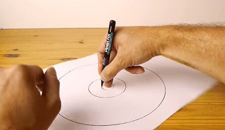 How to draw a small sized Circle using only hands 2017 2018