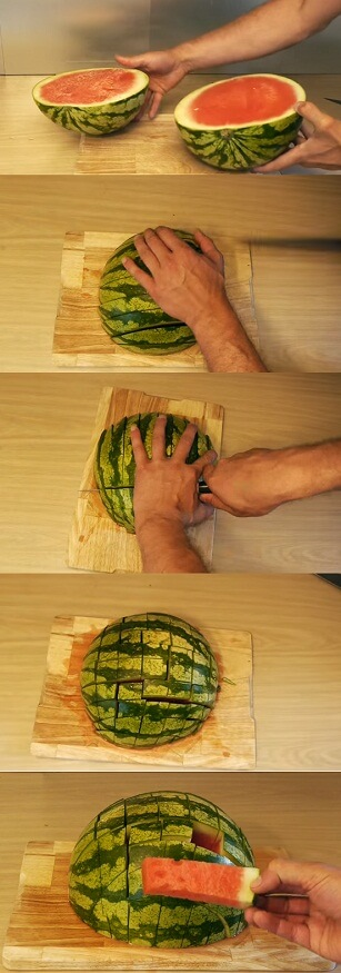 best way to prepare and serve watermelon