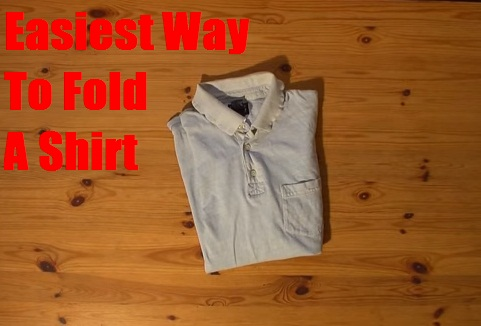 easiest way to fold a shirt in a short time