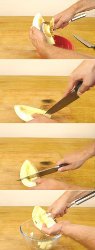 kiwi fruit salad how to cut