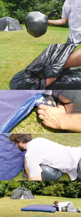 How To blow up your Airbed without a pump
