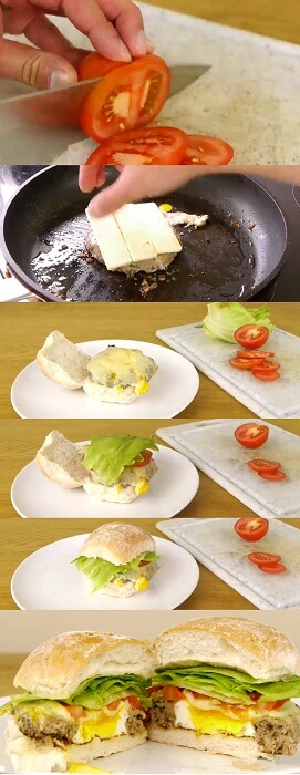 easy way for men to make burgers