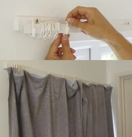 what to do when you don't have curtains in your new house